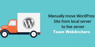 How to move wordpress from local server to live site